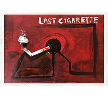 Last Cigarette Photographic Print