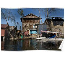 Cartoon - A slightly more run down section of the Dal Lake Poster