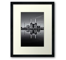 Battersea Power Station (England) Mono Framed Print