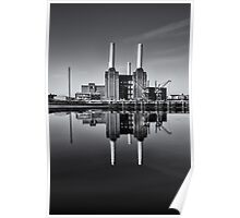 Battersea Power Station (England) Mono Poster