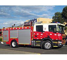 Morwell Firebrigade Truck - Gippsland Photographic Print