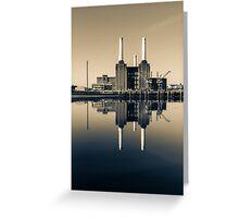 Batersea Power Station Split Tone Greeting Card