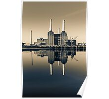 Batersea Power Station Split Tone Poster