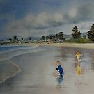 Play at Thirroul beach NSW by Nicole Barros
