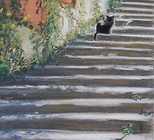Stairway to Tuscany by Nicole Barros