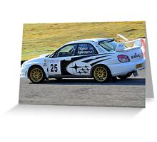Subaru Impreza No 25 Greeting Card