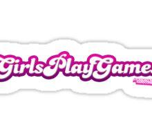 Girls Play Games Sticker