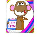 Monkey Ice Cream by Josue Vega Perez