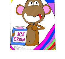 Monkey Ice Cream by Josue Vega Perez