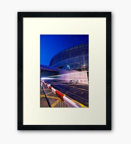 Fast lights Framed Print