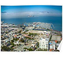 Fishermans Wharf and Alcatraz San Francisco Poster