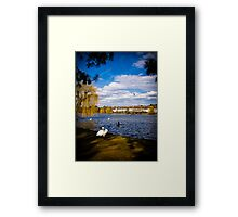 Roath Park Lake Cardiff Wales Framed Print