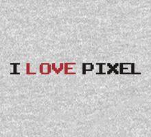 I Love Pixel Kids Clothes