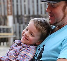 Dad and his gorgeous Son by Melani