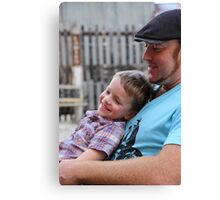 Dad and his gorgeous Son Canvas Print