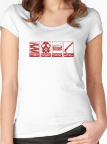 In Case Of Zombie Apocolypse Women's Fitted Scoop T-Shirt