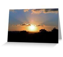 Sun rays Greeting Card