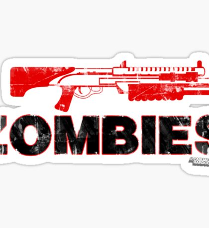 I Shotgun Zombies Sticker