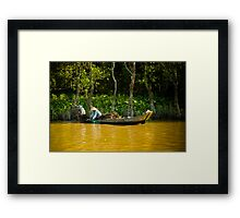 Mekong River Fishing Framed Print