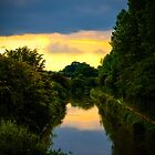 Canal Sunset Berkshire England by mlphoto