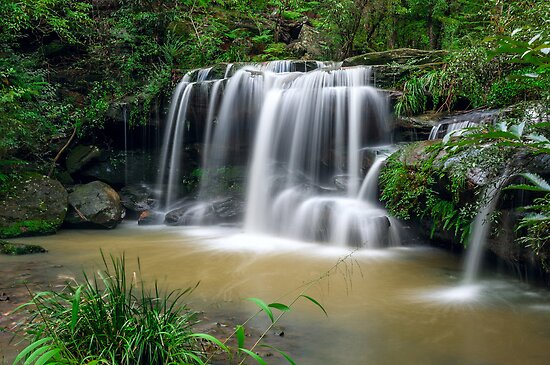 Sydney waterfalls - Hunts Creek #1 by vilaro Images