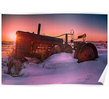 Tractor Sunrise 3031_2013 Poster