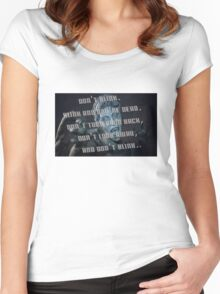 Don't Blink - Doctor Who Women's Fitted Scoop T-Shirt