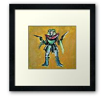 EGYPTIAN KING WITH GUNS Framed Print