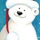 Festive Polar Bear by Lisa Marie Robinson