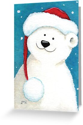 Festive Polar Bear by Lisa Marie Robinson