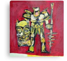 WARRIOR with SHIELD and SPEAR Metal Print