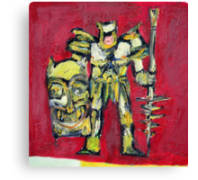 WARRIOR with SHIELD and SPEAR Canvas Print