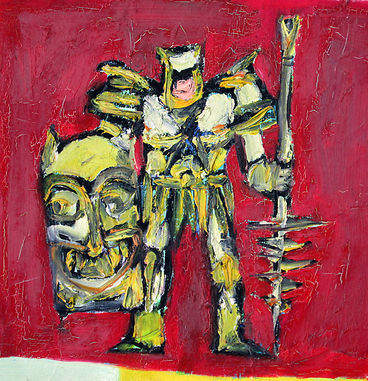 WARRIOR with SHIELD and SPEAR by lautir