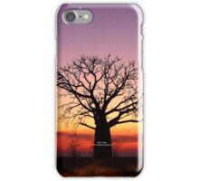 Boab Silhouette iPhone Case/Skin
