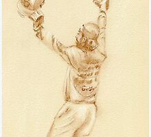 Chris Gayle - pastel sketch drawing by Paulette Farrell