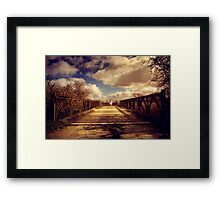 Sheep Bridge Framed Print