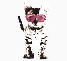 kitten in pink shades  Kids Tee