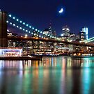 New York City Skyline and Brooklyn Bridge by Mitchell Grosky