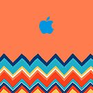 Apple logo with Chevron Pattern - Apple iPhone 5, iphone 4 4s, iPhone 3Gs, iPod Touch 4g case by www. pointsalestore.com