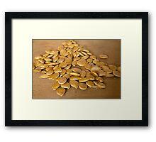 pumpkin seeds Framed Print