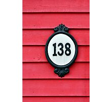 House number. Photographic Print