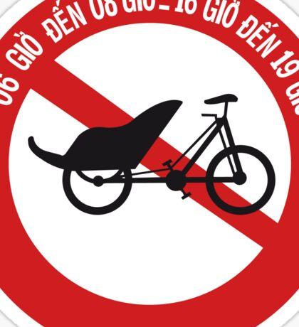 No Rickshaws Allowed, Traffic Sign, Vietnam Sticker