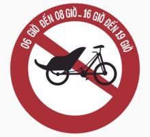 No Rickshaws Allowed, Traffic Sign, Vietnam Kids Tee