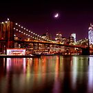 New York City Skyline from Brooklyn Bridge Park by Mitchell Grosky
