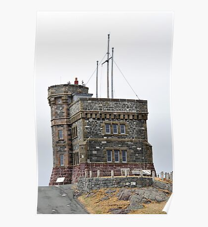 Cabot Tower, Newfoundland. Poster