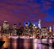 New York Skyline from Brooklyn Heights Promenade by Mitchell Grosky