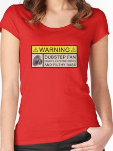 Dubstep Warning Women's Fitted Scoop T-Shirt