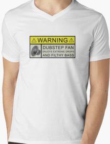 Dubstep Warning Mens V-Neck T-Shirt