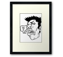 Shut Up Framed Print