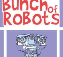 A Bunch of Robots Sticker